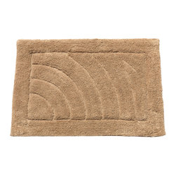 """Large-Sized, Cotton Bath Mat in Linen - Linen 100% Cotton Single Sided Bath Mat, Size 21""""x34"""". This Large-Sized (21'' w x 34'' l), 100% Cotton Bath Mat is soft, absorbent, machine-washable, and built to endure its share of stamping and trampling. Here in Linen, this product is available in a variety of fashionable colors and a smaller (17'' w x 24'' l) size.  Machine wash in warm water, line dry, reshape as needed"""