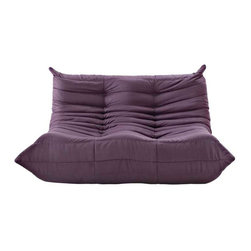 Modway - Waverunner Loveseat in Purple - Provide natural comfort at every gathering with a balanced set of functional symmetry. Observe as Waverunner interplays ergonomics with dense foam cushioning to precisely reflect full relaxation. Wander through the pathways of elucidation with a multi-layered environment of intricate folds and holistic positioning.