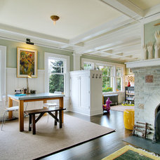 Eclectic Family Room by J.A.S. Design-Build