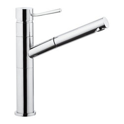 Nameeks - Remer by Nameeks N47 Single Hole Bathroom Faucet - REMER N47 - Shop for Bathroom from Hayneedle.com! You'll laugh at how you ever got by without a spray jet at your washbasin. The Remer by Nameeks N47 Single Hole Bathroom Faucet is a versatile piece that brings a plethora of new options to your lavatory experience. Not only does the sleek brass figure feature a long angled spout that extends into a pull-out sprayer but the spout itself swivels a full 360 degrees and the top-mounted handle's minimalist design is conveniently placed to be in the perfect spot for easy access and precious temperature control. Product Specifications Mount Type: Deck Mount Handle Style: Lever Valve Type: Ceramic Flow Rate (GPM): 2 Swivel: 360 Degrees Spout Height: 8.86 in. Spout Reach: 8.47 in. About NameeksFounded with the simple belief that the bath is the defining room of a household Nameeks strives to create a bath that shines with unique and creative qualities. Distributing only the finest European bathroom fixtures Nameeks is a leading designer developer and marketer of innovative home products. In cooperation with top European manufacturers their choice of designs has become extremely diversified. Their experience in the plumbing industry spans 30 years and is now distributing their products throughout the world today. Dedicated to providing new trends and innovative bathroom products they offer their customers with long-term value in every product they purchase. In search of excellence Nameeks will always be interested in two things: the quality of each product and the service provided to each customer.