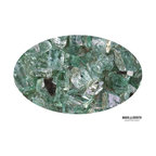 "Boone Hearth - 10 LB Bag of 1/4"" Jade Reflective Fire Glass - 10 LB Bag of 1/4"" Jade Reflective Fire Glass"