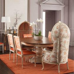 Massoud Tabitha Round Dining Table, Butterfly Dining Chair, & Summer Garden Ball -
