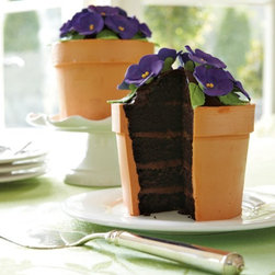 Perfect Endings Blooming Flower Pot Cake - If your mom loves to bake and spend time in her garden, what better way to celebrate two hobbies than with this unique flower pot cake! This item ships frozen and is ready to eat when thawed.