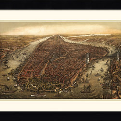 Amanti Art - New York, 1873 Framed Print by Ward Maps - Vintage maps are a classic accent that never goes out of style. Whether you are a map lover or wish to document and showcase where you have been (or would like to go), maps make a great addition to any space.