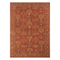 Jaipur Rugs - Hand-Tufted Oriental Pattern Wool Red/Yellow Area Rug (2 x 3) - The Poeme Collection takes traditional designs and re-invents them in a palette of modern, highly livable colors. Each design is made from premiere hand-spun wool and crafted with precision for the look and feel of a hand-knotted rug, at the more affordable cost of a hand-tufted. Poeme will effortlessly coordinate individual design elements to finish any room.