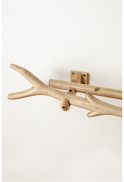 eclectic curtain poles by Anthropologie