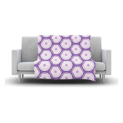 """Kess InHouse - Louise """"Labyrinth"""" Purple Fleece Blanket (30"""" x 40"""") - Now you can be warm AND cool, which isn't possible with a snuggie. This completely custom and one-of-a-kind Kess InHouse Fleece Throw Blanket is the perfect accent to your couch! This fleece will add so much flare draped on your sofa or draped on you. Also this fleece actually loves being washed, as it's machine washable with no image fading."""