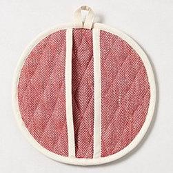 Anthropologie - Pipe Trim Oven Mitt - *Linen, cotton
