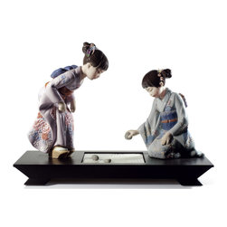 """Lladro Porcelain - Lladro Japanese Garden Figurine - Plus One Year Accidental Breakage Replacement - """"Hand Made In Valencia Spain - Sculpted By: Javier Molina - Included with this sculpture is replacement insurance against accidental breakage. The replacement insurance is valid for one year from the date of purchase and covers 100% of the cost to replace this sculpture (shipping not included). However once the sculpture retires or is no longer being made, the breakage coverage ends as the piece can no longer be replaced. """""""