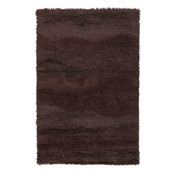Surya - Plush Topography 8'x11' Rectangle Espresso Area Rug - The Topography area rug Collection offers an affordable assortment of Plush stylings. Topography features a blend of natural Espresso color. Handmade of 100% Wool the Topography Collection is an intriguing compliment to any decor.