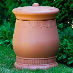 Good Ideas - Good Ideas Savannah Urn Waste and Storage Bin - SV-URN-BLK - Shop for Trash Receptacles from Hayneedle.com! The Good Ideas Savannah Urn Waste and Storage Bin is an attractive alternative to plain bins. Large industrial trash cans detract from your landscape's beauty and most decorative artisan containers can cost several hundred dollars. The Savannah Urn is an inexpensive solution that will beautify your deck patio backyard or gardens without breaking the bank. The lightweight Polyethylene construction makes the Urn easy to move and the wide base resists tipping in strong winds and weather. The lid is a simple friction fit design that is easy to remove but won't blow off. With 30 gallons of capacity the Savannah Urn can hold a standard garbage bag or store yard tools pool toys and other items around the house. Made in the USA and available in several color choices and finishes. About Good Ideas Inc.Based in Lake City Penn. Good Ideas Inc. was founded in 2001 and has been promoting green living ever since. Many of their innovative products have been featured in magazines newspapers TV shows and news stories. Good Ideas' products focus on sustainability and are developed from practical common-sense ideas generated from consumer needs. Good Ideas' great products include the Rain Wizard Big Blue Rain Saver Compost Wizard and many more. Please note this product does not ship to Pennsylvania.