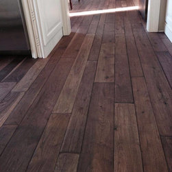 WD Wood Flooring Projects - Walnut in a custom stained & hand scraped finish