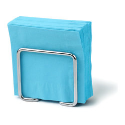 Spectrum Diversified Designs - Dunbar Napkin Holder - Chrome - From the Dunbar Collection, this napkin holder keeps napkins neat, stacked and contained. Made of sturdy steel and a chrome finish.