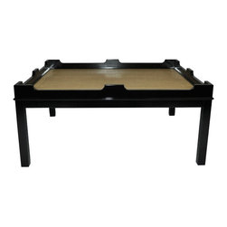 Edgartown Coffee Table - Tricorn Black - Our Edgartown coffee table is versatile and classic in so many ways; with its clean lines, sturdy build, and variety of color and top options. Make this the centerpiece for your next gathering of family and friends. No wonder this is our best selling coffee table. Available in 16 highly lacquered colors and 8 surfaces. Custom color available. Made in the U.S.A.