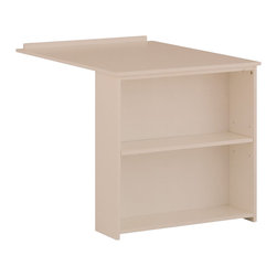 Canwood - Canwood Whistler Slide Out Desk in White - Canwood - L/R returns - 21351 - This innovative Canwood Whistler Collection Slide Out Desk features a West Coast design, quaint, clean lines and a rich wood finish, designed to complement your Junior Loft bed. Two spacious shelves add yet another touch of functionality to this one of a kind piece. Give your tween their own retreat for homework, without sacrificing space in their bedroom. Designed with the Canadian Whistler Resort in mind, in beautiful British Columbia, this Slide Out Desk boasts an 'outdoorsy' elegance that is sure to complete your tween's bedroom look. Lower than a traditional desk, it will fit perfectly underneath your Canwood Whistler Junior Loft bed.