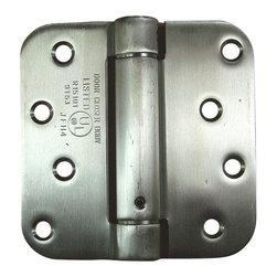"4"" X 4"" With 1/4"" Radius Stainless Steel Spring Hinges - - 4 inch x 4 inch with 1/4 inch radius Stainless Steel Spring Hinges"