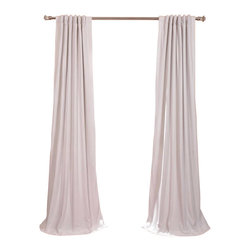Exclusive Fabrics & Furnishings, LLC - Signature Off-White Blackout Velvet Curtain - Keep the light out and the heat in with these luxurious, lustrous curtains. Crafted from soft poly velvet and available in a variety of rich colors, they'll give your windows the royal treatment.