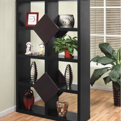 Enitial Lab Roque 8-Compartment Bookcase/Display Stand - Black