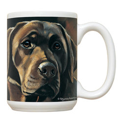235-Chocolate Lab Mug - 15 oz. Ceramic Mug. Dishwasher and microwave safe It has a large handle that's easy to hold.  Makes a great gift!