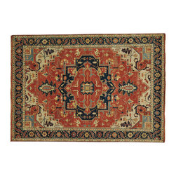 1800-Get-A-Rug - Handmade Antiqued Heriz Recreation Vegetable Dyes Oriental Rug Sh20217 - Our Tribal & Geometric hand knotted rug collection, consists of classic rugs woven with geometric patterns based on traditional tribal motifs. You will find Kazak rugs and flat-woven Kilims with centuries-old classic Turkish, Persian, Caucasian and Armenian patterns. The collection also includes the antique, finely-woven Serapi Heriz, the Mamluk, Afghan, and the traditional handmade village Persian rugs.