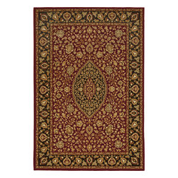 """Orian - Orian American Heirloom Callaway (Claret) 7'10"""" x 10'10"""" Rug - American Heirloom Collection, Orian Rugs' flagship collection is inspired by classic, hand-woven oriental rugs that combine understated elegance with classic style. The 1.5 million point design construction is densely woven with Orian's finest-denier yarns creating unparalleled visual dimension and pin point design clarity."""