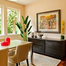 Contemporary Dining Room by Garrison Hullinger Interior Design Inc.