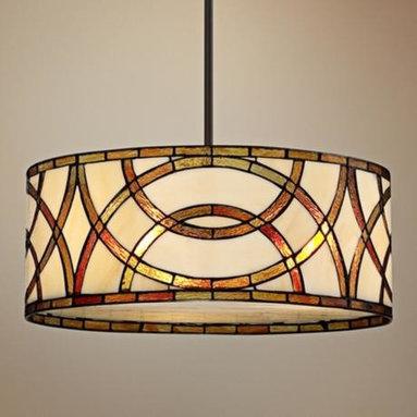 Art Glass Circles Tiffany Style Pendant Chandelier -