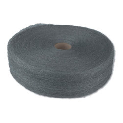 GLOBAL MATERIAL TECHNOLOGIES - #3 STEEL WOOL 5LB REE 6/CS - 4-in. wide continuous ribbon of steel wound on a fiber core. The most economical format for bulk users of steel wool; ideal for making custom shapes and pads sized for specific uses. 5-lb. reel. 6 reels per case. Shpg. wt. 32.6-lbs.. . . . . #3 Coarse. . #3 Coarse. Industrial-Quality Steel Wool Reels. Dimensions: Height: 2, Length: 1.3, Width: 1.3. Country of Origin: CN