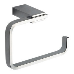 Gedy - Square Brass Toilet Paper Holder In Polished Chrome - Modern, contemporary squared toilet paper holder with rounded edges. Decorative polished chrome toilet roll holder. Toilet paper holder. Made of brass. Polished chrome finish. From the Gedy Kansas collection.