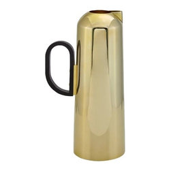Tom Dixon - Form Jug by Tom Dixon - With its smooth bullet shape and soft gleam, the Tom Dixon Form Jug brings some Art Deco glam to tea time. It is made out of spun and welded sheet brass that's been dipped in a warm gold wash and left unlacquered to leave the surface with a subtly matte texture. Part of the complete Form tea set. Tom Dixon has a vast commitment to design creativity and a mission to redefine how products are made and sold. The Tom Dixon lighting and furniture collections reflect all of his cutting-edge design and manufacturing innovations, from the product's shape and form to the raw materials and production processes used.