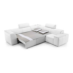 Super Line Sectional with Bed - Contempoary Sofa Bed with Storage.  Imported from Europe.