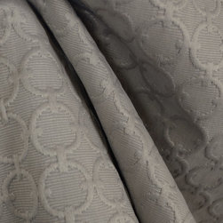 Waverly - Waverly Full Circle Sterling Grey Geometric Upholstery Fabric By The Yard - Full Circle Sterling is a Waverly geometric Fabric. Great for light upholstery, bedding, pillows and window treatments.