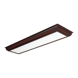 AFX Lighting - AFX Lighting CCM232R8 Winchester Cherry Flush Mount - Get maximum light coverage without the glaring, fluorescent variety overkill that makes your head pound. This cherry finish crown molding with smooth white diffuser, mounts flush on the ceiling. Once installed, you can savor the dispersed but potent light source.