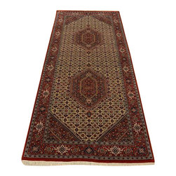 1800-Get-A-Rug - Area Rug Hand Knotted 300 kpsi Bidjar Mahi Gallery Runner Rug SH14299 - Our fine Oriental rug collection consists of 100% genuine, hand-knotted and hand-woven rugs from Persia, China, and other areas throughout Asia. Classic, traditional, and offered in a wide range of elaborate designs, every rug is guaranteed to serve as a beautiful and striking element in any interior setting.