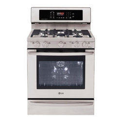 "LG Studio - Studio Series LSRG309ST 30"" Wide Premium Freestanding Gas Range  5 Sealed Burner - Get all the cooking power of the pros with features and a design made just for your home Now you can take on any dish or dinner party with a larger capacity super-high BTU burner a time-saving convection oven and 5 high-performance burners All that a..."