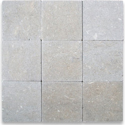 "Stone Center Corp - Seagrass Limestone Tile 4x4 Tumbled - Premium grade Seagrass Limestone tile 4"" width x 4"" length x 3/8"" thickness"