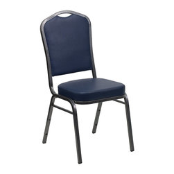 Flash Furniture - Flash Furniture Banquet Stack Chairs Banquet Stack Chairs - This is one tough chair that will withstand the rigors of time. With a frame that will hold in excess of 500 lbs., the HERCULES Series Banquet Chair is one of the strongest banquet chairs on the market. You can make use of banquet chairs for many kinds of occasions. This banquet chair can be used in Church, Banquet Halls, Wedding Ceremonies, Training Rooms, Conference Meetings, Hotels, Conventions, Schools and any other gathering for practical seating arrangements. The banquet chair is also great for home usage from small to large gatherings. For any environment that you use a banquet chair it will put your guests at a greater comfort level with the padded seat and back. Another advantage is the stacking capability that allows you to move the chairs out of the way when not in use. With offerings of comfort and durability, you can be assured that you can enjoy this elegant stacking banquet chair for years to come. [FD-C01-SILVERVEIN-NY-VY-GG]