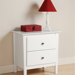 None - Woodbury White 2-drawer Nightstand - Every bedroom needs at least one nightstand, and the upscale Woodbury 2 Drawer Nightstand is a great choice. With two full-sized drawers, your bedside essentials will never be far from reach.