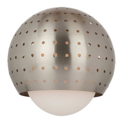 Sea Gull Lighting - Sea Gull Lighting 94380-962 Ambiance Transitions Shades in Brushed Nickel - Space Ball Pendant Glass