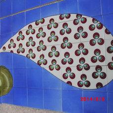 Contemporary Dining Room by NewZeugma Custom Luxury Mosaics and Iznik Tiles