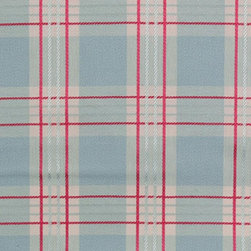 Plaid/Check - Turquoise Upholstery Fabric - Item #1008669-11.
