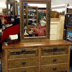 Barnwood Bedroom Furniture 6 Drawer Barn Wood Dresser