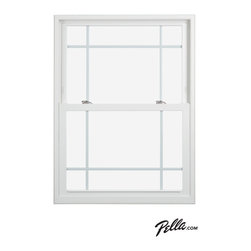 Pella® 350 Series vinyl double-hung window - Pella® 350 Series vinyl double-hung windows offer a premium look. Featuring Pella's exclusive energy-saving system, they're the most energy-efficient product line offered by Pella.