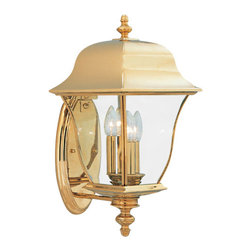 """Designers Fountain - Designers Fountain 1552-PVD-PB 3 Light 10"""" Wall Lantern Solid Brass PVD from the - Features:"""