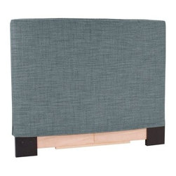 Upholstered Slipcover Headboard - Coco Sapphire - A stylish snooze spot starts with a stylish headboard like the Upholstered Slipcover Headboard - Coco Sapphire. A subtle sapphire hue is the perfect complement to the soft burlap upholstery, which is made of 66% polyester, 34% acrylic fabric. The sturdy wood frame is built tough, and there's even extra padding inside, so it's easy to prop up in bed. In your choice of bed size. Slipcover is made in the USA.Dimensions:Twin: 42W x 3D x 48H inchesFull/Queen: 64W x 3D x 53H inchesKing: 80W x 3D x 53H inchesAbout the Howard Elliott Collection.The Howard Elliott Collection is one of the premiere manufacturers of decorative mirrors and accessories in the home furnishings industry. Howard Elliott offers innovative designs in a wide variety of styles, and the company prides itself on its high standards and quality. No matter your style, the Howard Elliott Collection offers pieces that are sure to add sophistication and luxury to your decor.In the company's meteoric rise, it now ships to nearly 3,500 furniture, home furnishings, and lighting retailers as well as many of the top contract companies servicing the hotel and building industries worldwide.