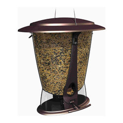Classic Brands LLC - Squirrel-Proof X-2 Seed Feeder - Squirrelproof feeder in attractive burnt penny finish, wide mouth for easy filling, 2 feeding ports