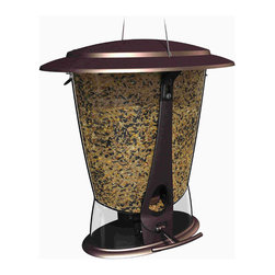 Classic Brands LLC - Squirrel-Proof X-2 Seed Feeder - Squirrel proof feeder in attractive burnt penny finish, wide mouth for easy filling, 2 feeding ports