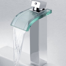 None - Elite '8866C' 3-color LED Light Single Lever Vessel Sink Faucet - Add modern style during your next bathroom remodeling project with this elegant faucet set. Finished in sleek chrome, this unique faucet features an LED light system that changes colors based on the temperature of the water.