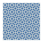 Bright Blue Square Trellis Linen Fabric - Modern electric blue geometric trellis on white lightweight linen. Who knew being hip could be so square?Recover your chair. Upholster a wall. Create a framed piece of art. Sew your own home accent. Whatever your decorating project, Loom's gorgeous, designer fabrics by the yard are up to the challenge!