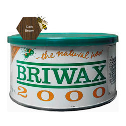 "Briwax international - Briwax Toulene Free 16oz (available in 7 colors), Dark Brown, 16 Oz - Briwax is a solvent based blend of beeswax and carnauba wax for use on bare wood or previously sealed surface. Can also be used as a maintenance wax. Briwax has long been recognized by furniture restoration professionals as a premiere, multi-purpose furniture wax. It produces a lustrous patina, not a glossy surface shine. It is suitable for use as a finish on new wood or stripped furniture, a reconditioner for old or damaged finishes, a furniture wax for fine furniture and antiques or an antiquing agent where the desire is to ""age"" a newly painted carving or project."
